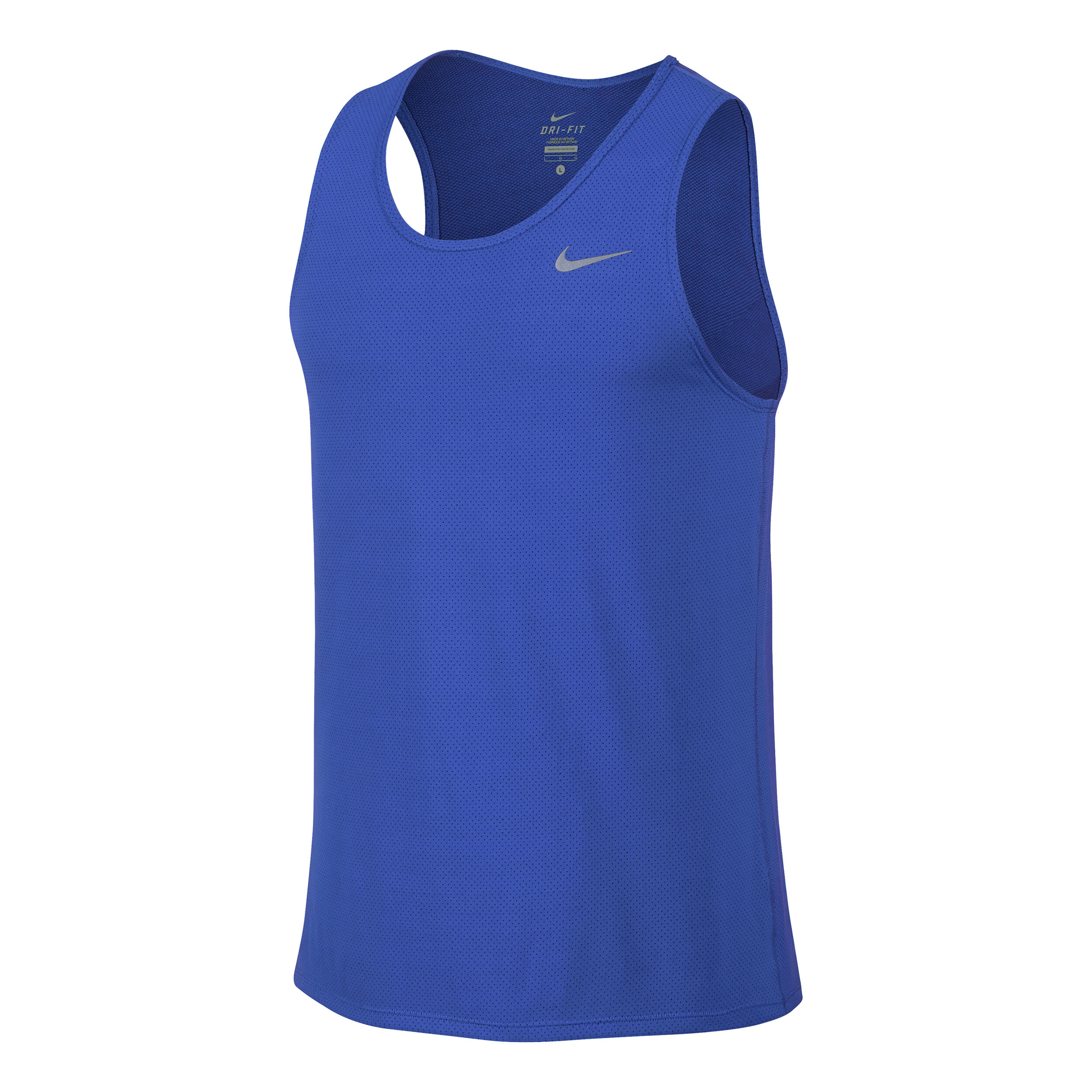 Nike Dri Fit Contour Singlet Tanktop Heren Blauw