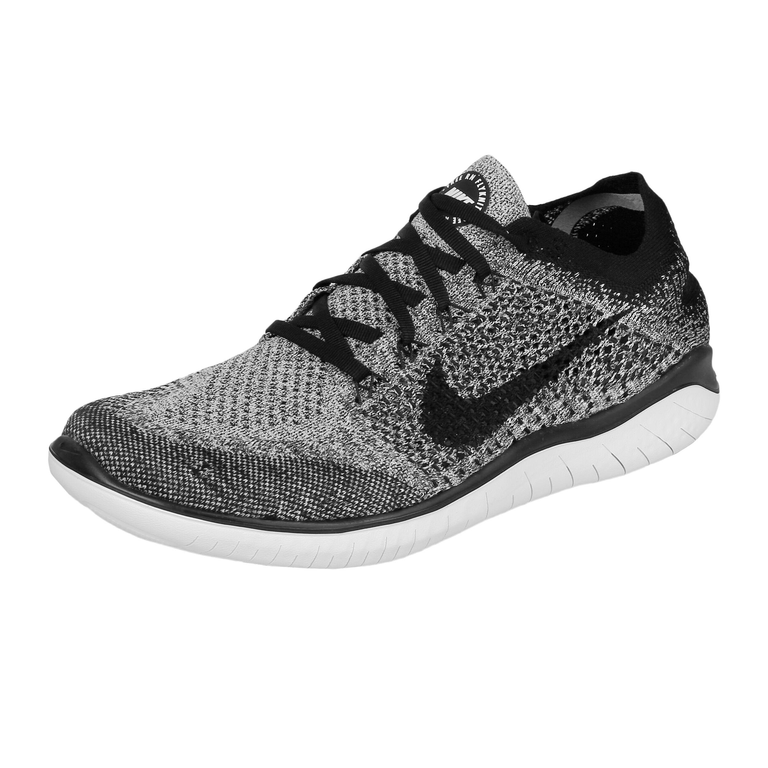 Nike Free Run Flyknit 2018 Fitnessschoen Heren Wit, Zwart