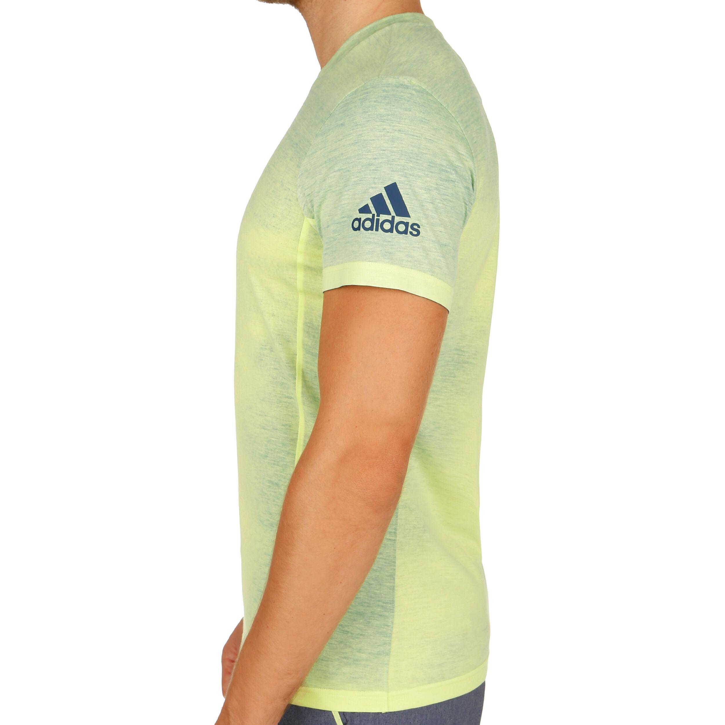 2018 Adidas Melbourne Printed T Geel Shirts Heren online shoppen