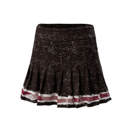 Long Kinetic Stripe Pleated Skirt