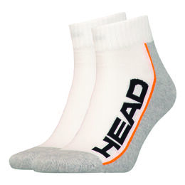 Stripe Quarter 2Pair Tennis Socks Unisex