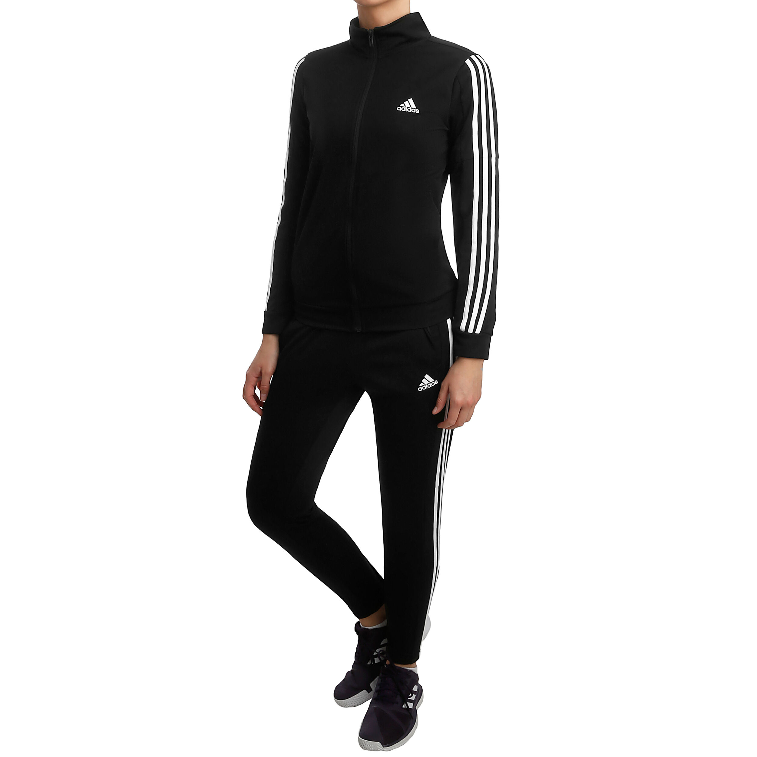 adidas Team Sports Trainingspak Dames Zwart, Wit online