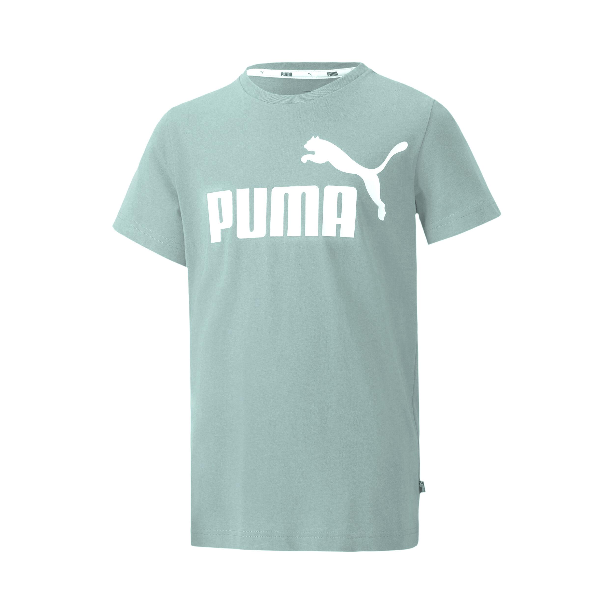 Puma Essential Logo T shirt Jongens Mint, Wit