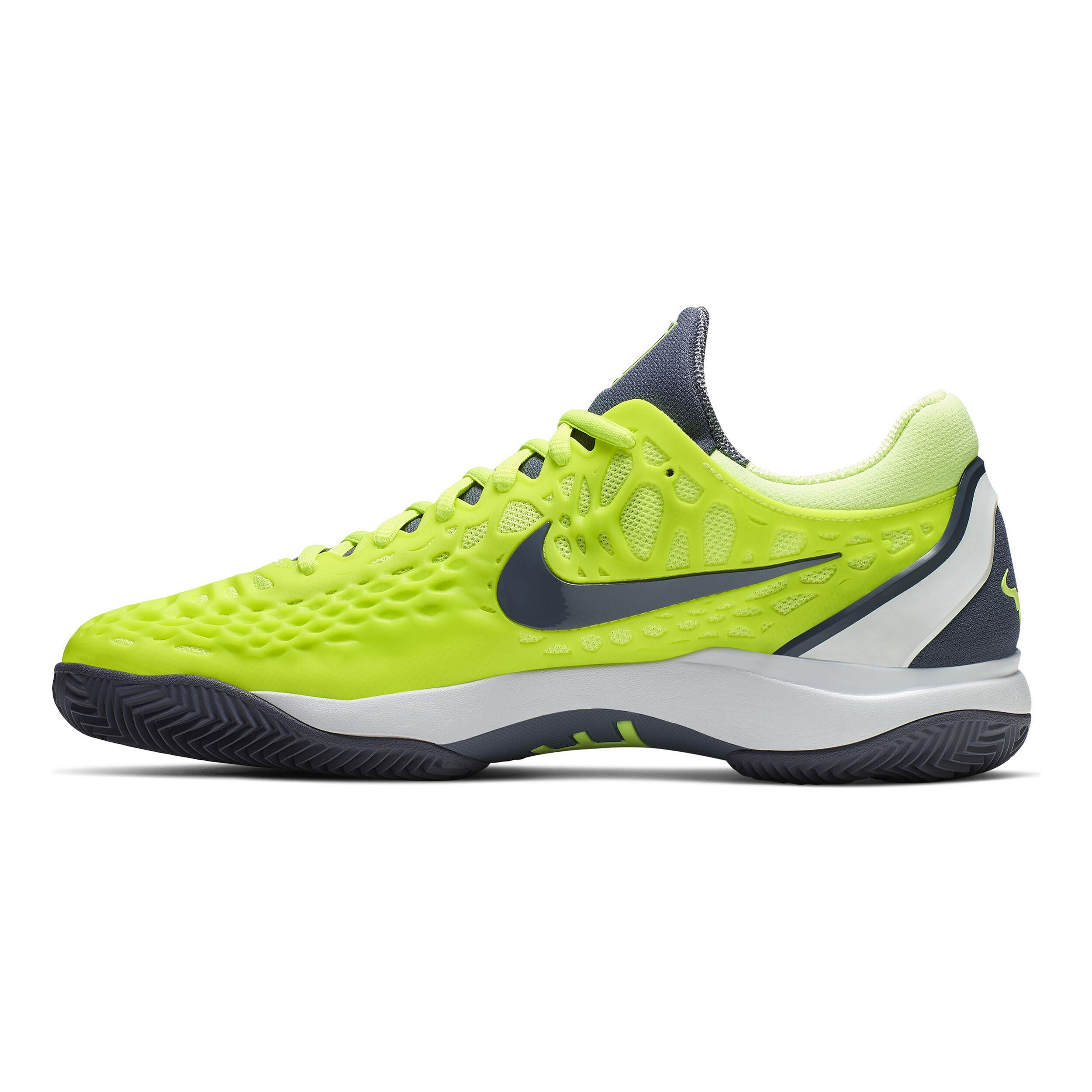 Nike Zoom Cage 3 Clay Gravelschoen Heren Citroengeel