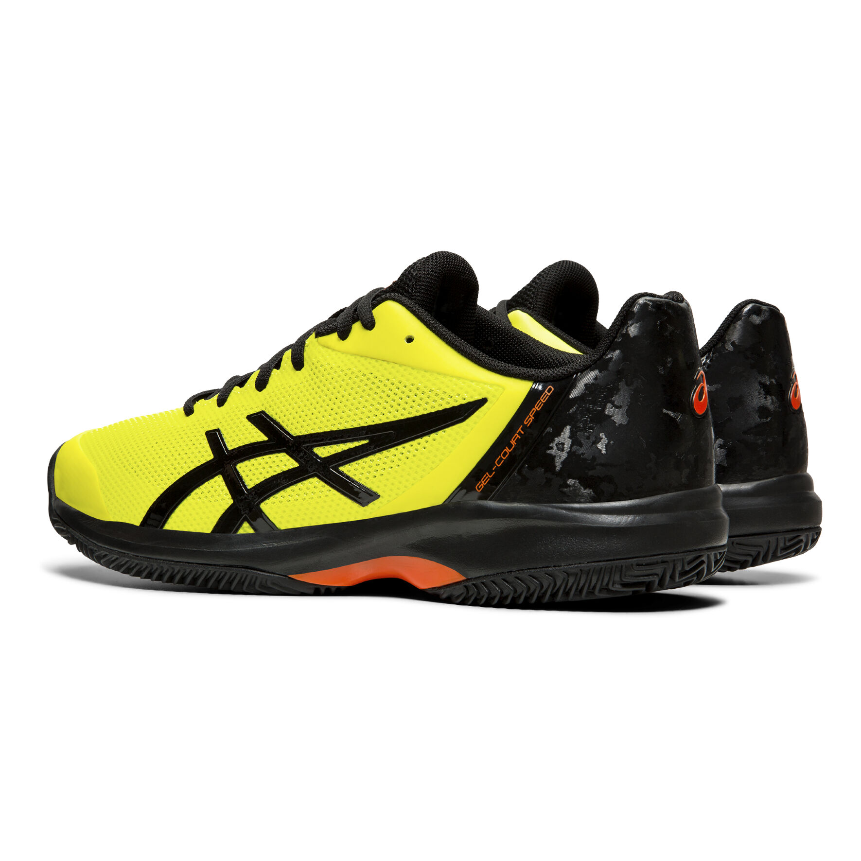 Asics Gel Court Speed Clay Gravelschoen Heren Geel, Zwart