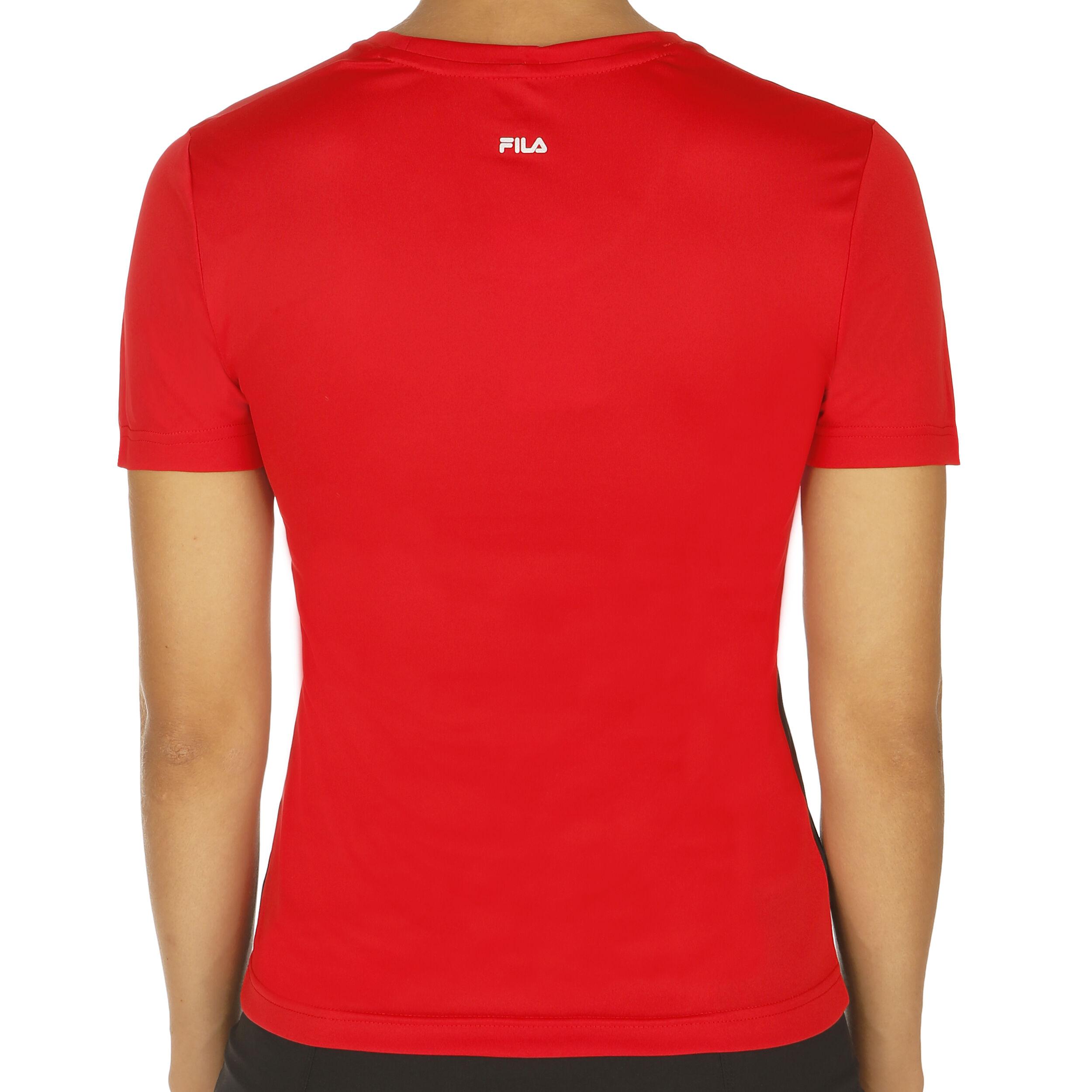 Fila Saya T shirt Dames Rood, Wit online kopen | Tennis Point
