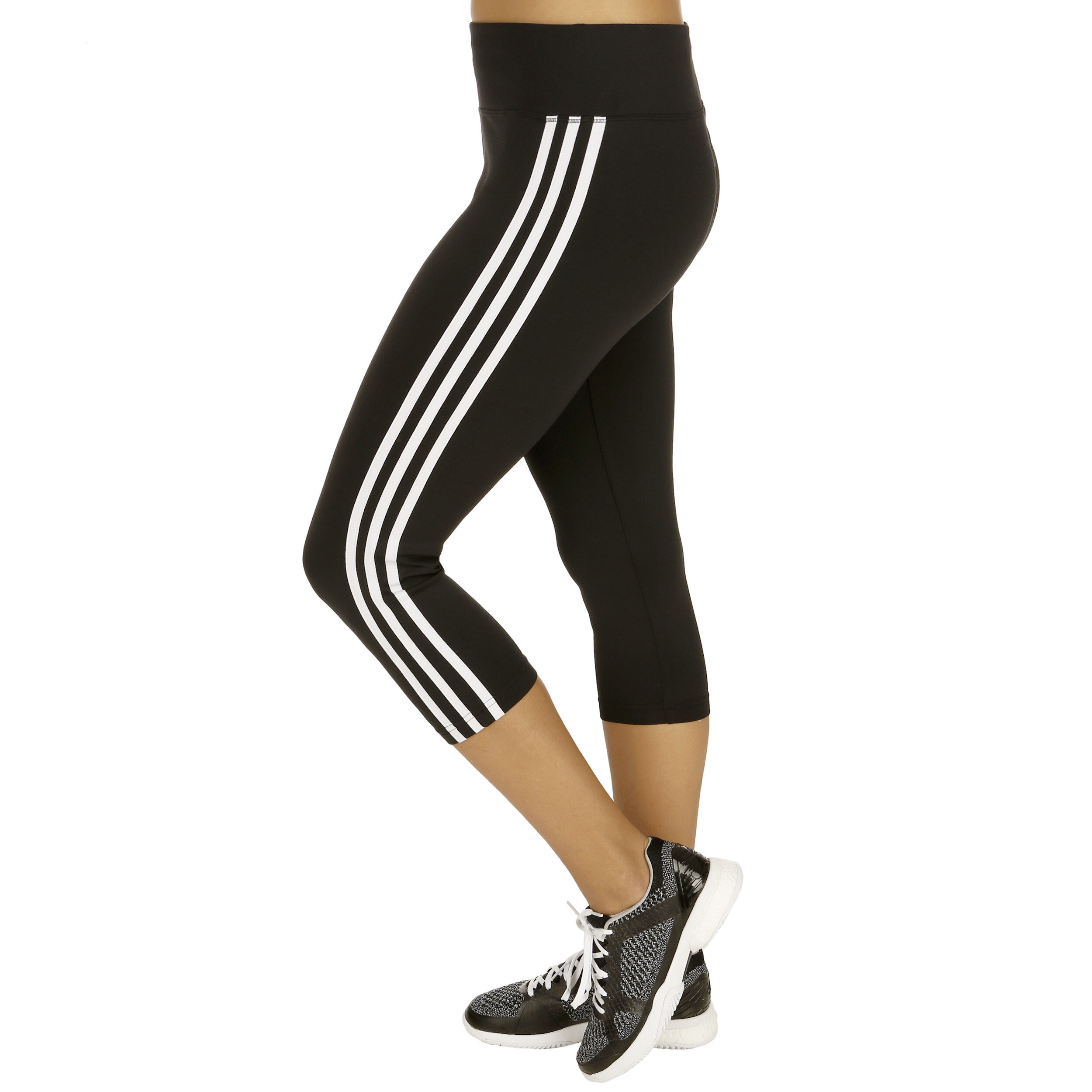 adidas D2M 3Stripes 34 Tight Dames Zwart, Wit online