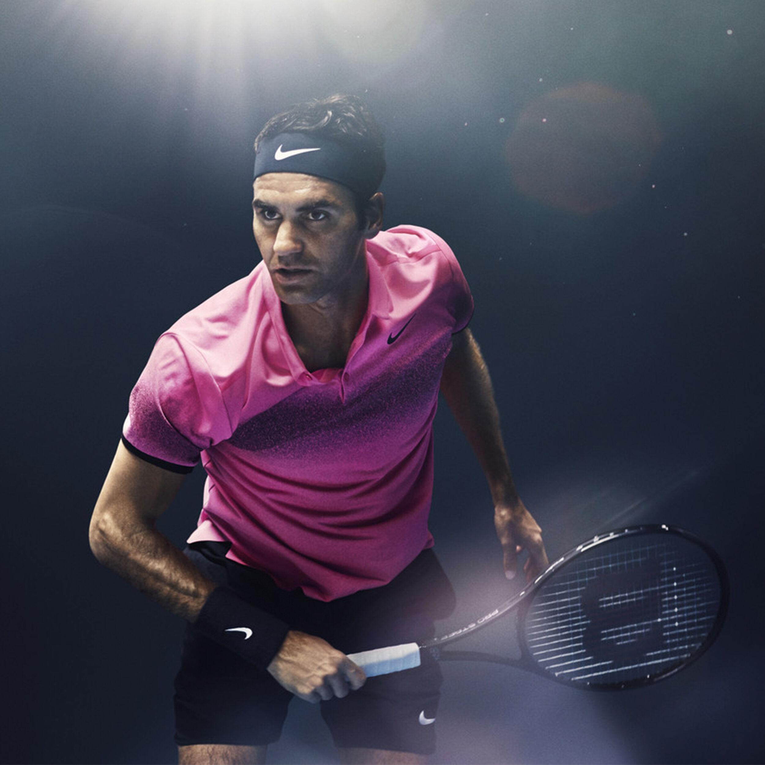 Nike Roger Federer Zoom Vapor 9.5 Tour Flyknit LE NIGHT Allcourt Schoen Heren Zwart, Neongeel