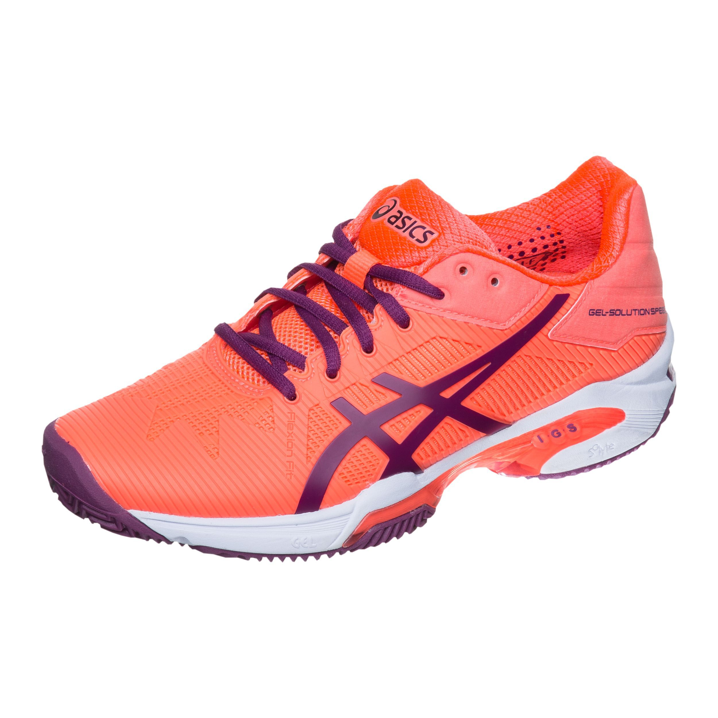 Asics Gel Solution Speed 3 Clay Gravelschoen Dames Koraal