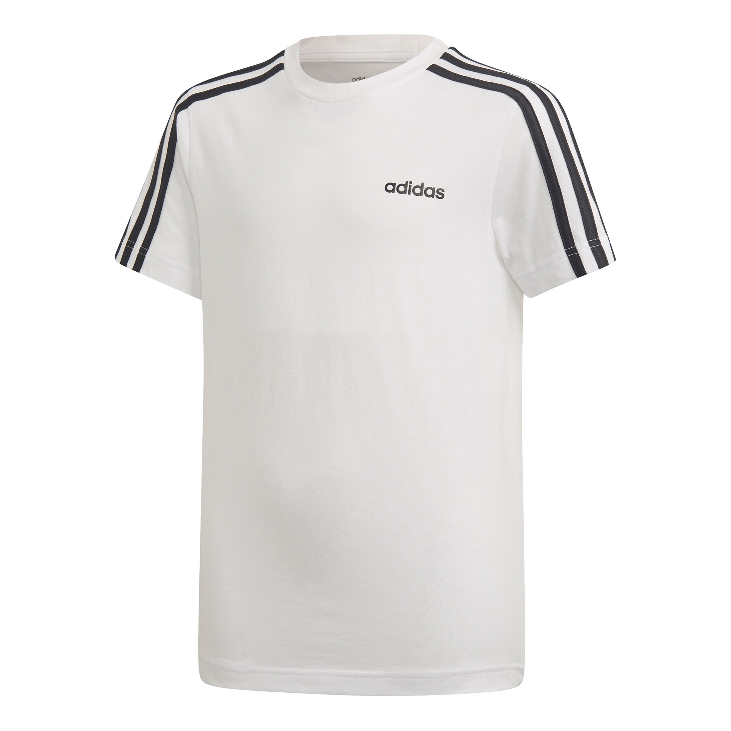 adidas Essentials 3 Stripes T shirt Jongens Wit, Zwart