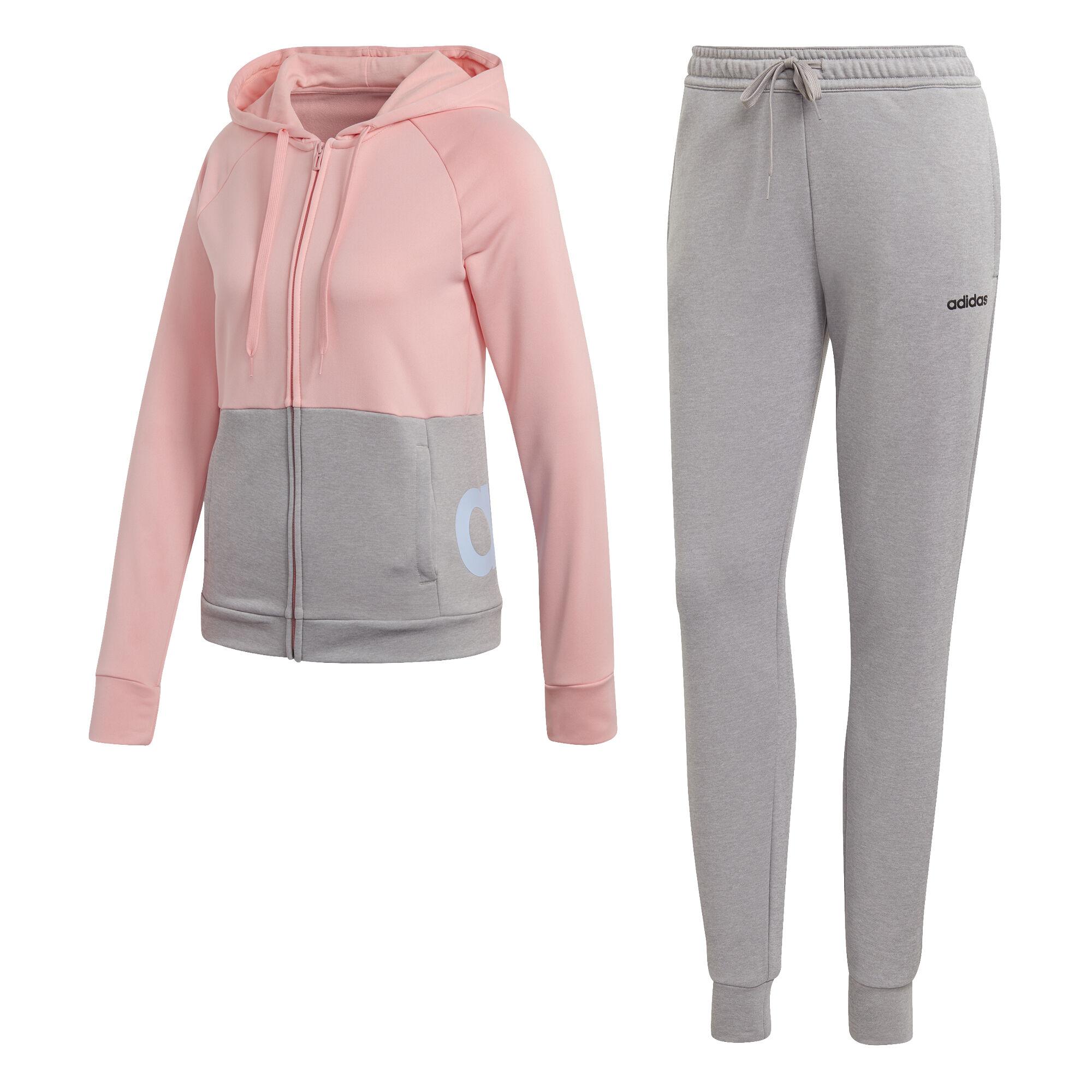 adidas Linear FT Trainingspak Dames Lichtgrijs, Roze