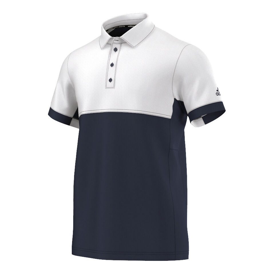 adidas Climacool T16 Polo Heren Donkerblauw, Wit online