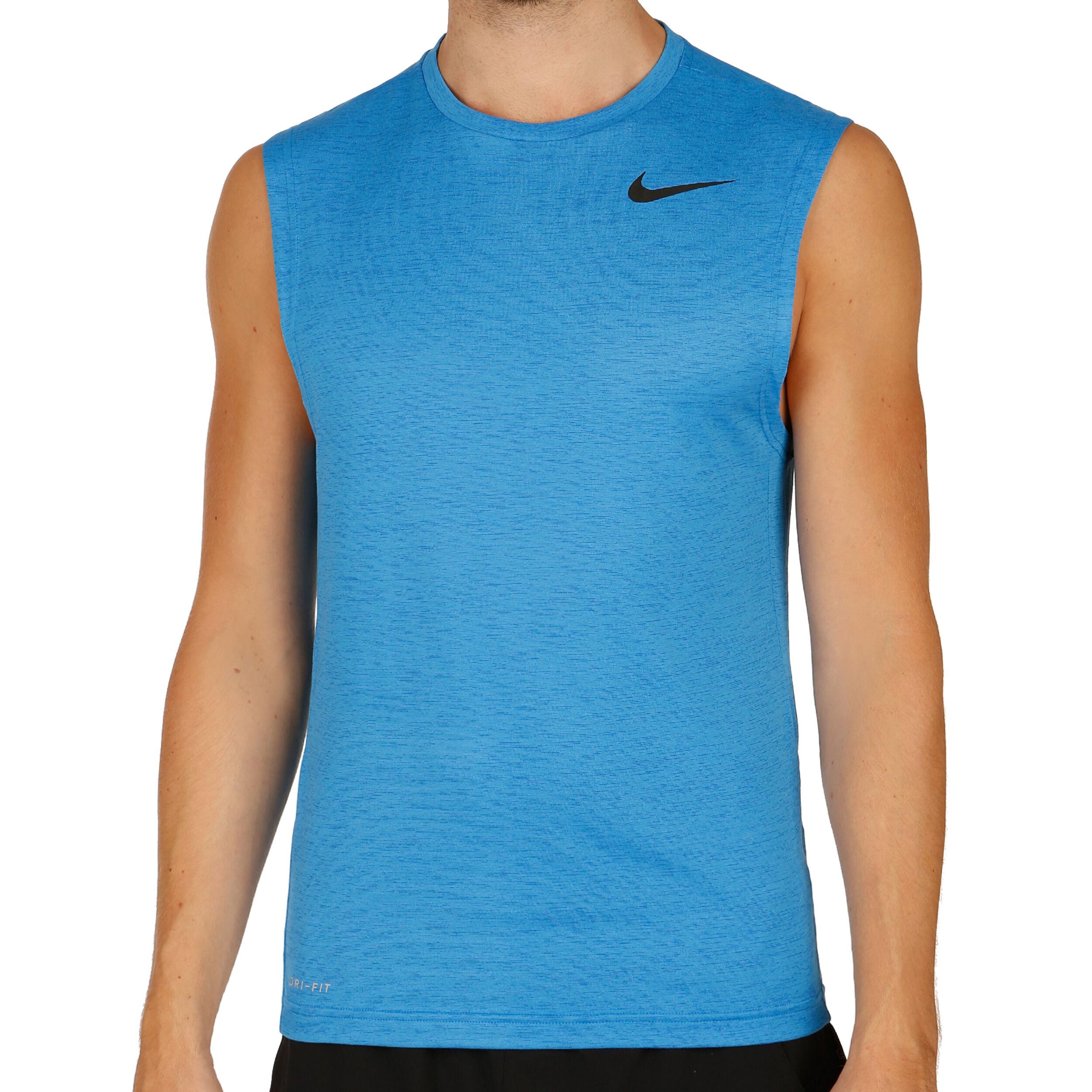 Nike Dri FIT Tanktop Heren Blauw, Zwart online kopen