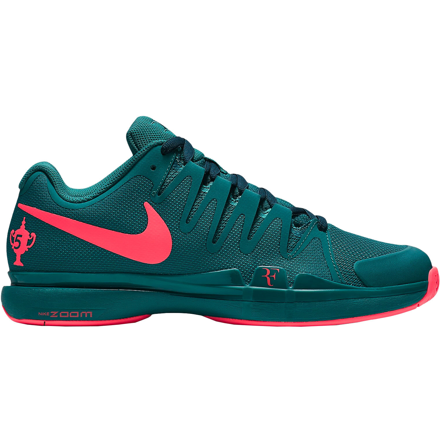 Nike Zoom Vapor 9.5 Tour LG Quickstrike Allcourt Schoen Limited Edition Heren Petrolblauw, Neonoranje
