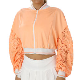 Lace Cropped Bomber Jacket Women