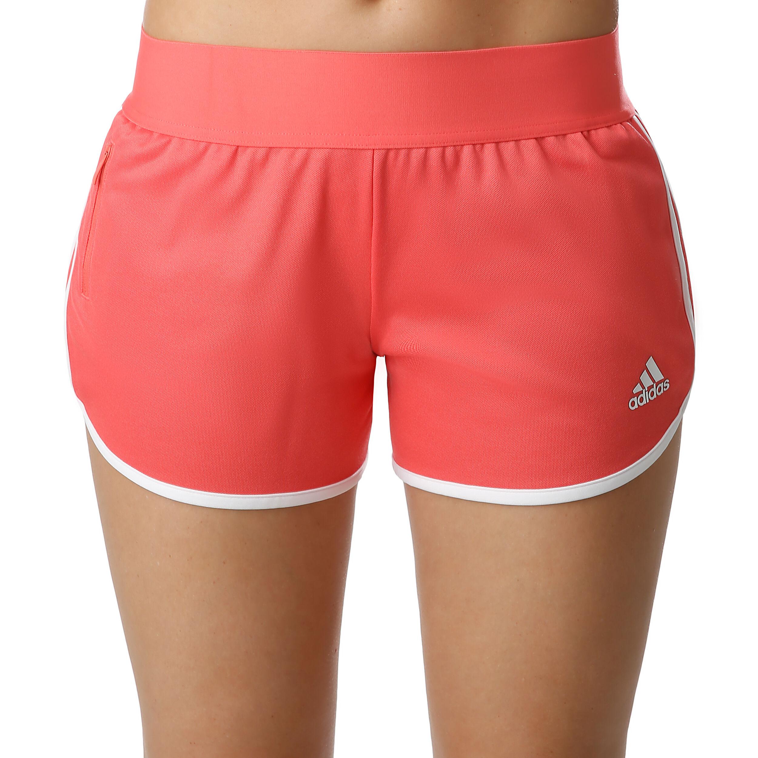 adidas M10 Athletics Iteration Shorts Dames Koraal, Wit