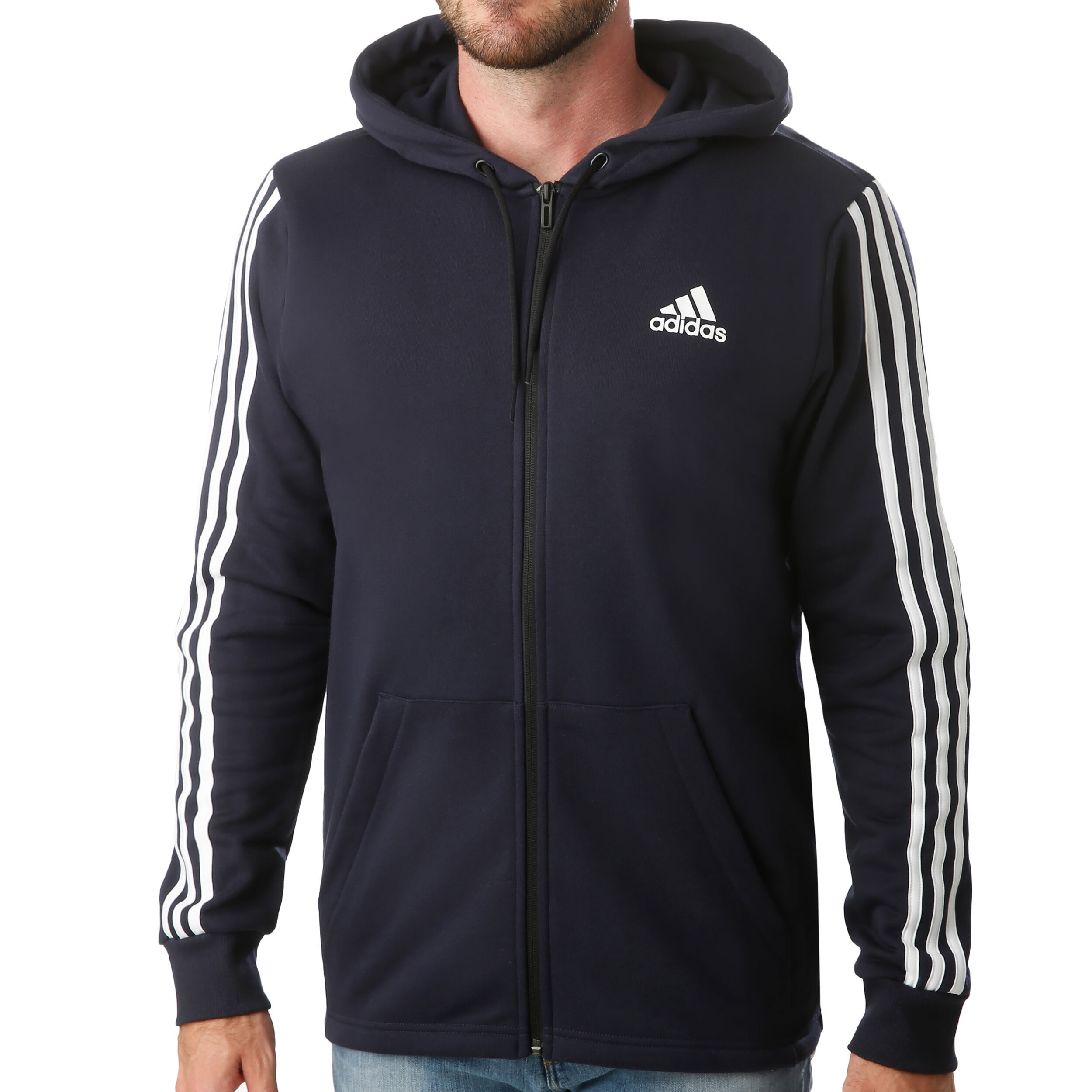 adidas Must Have 3 Stripes French Terry Full Zip Sportjas