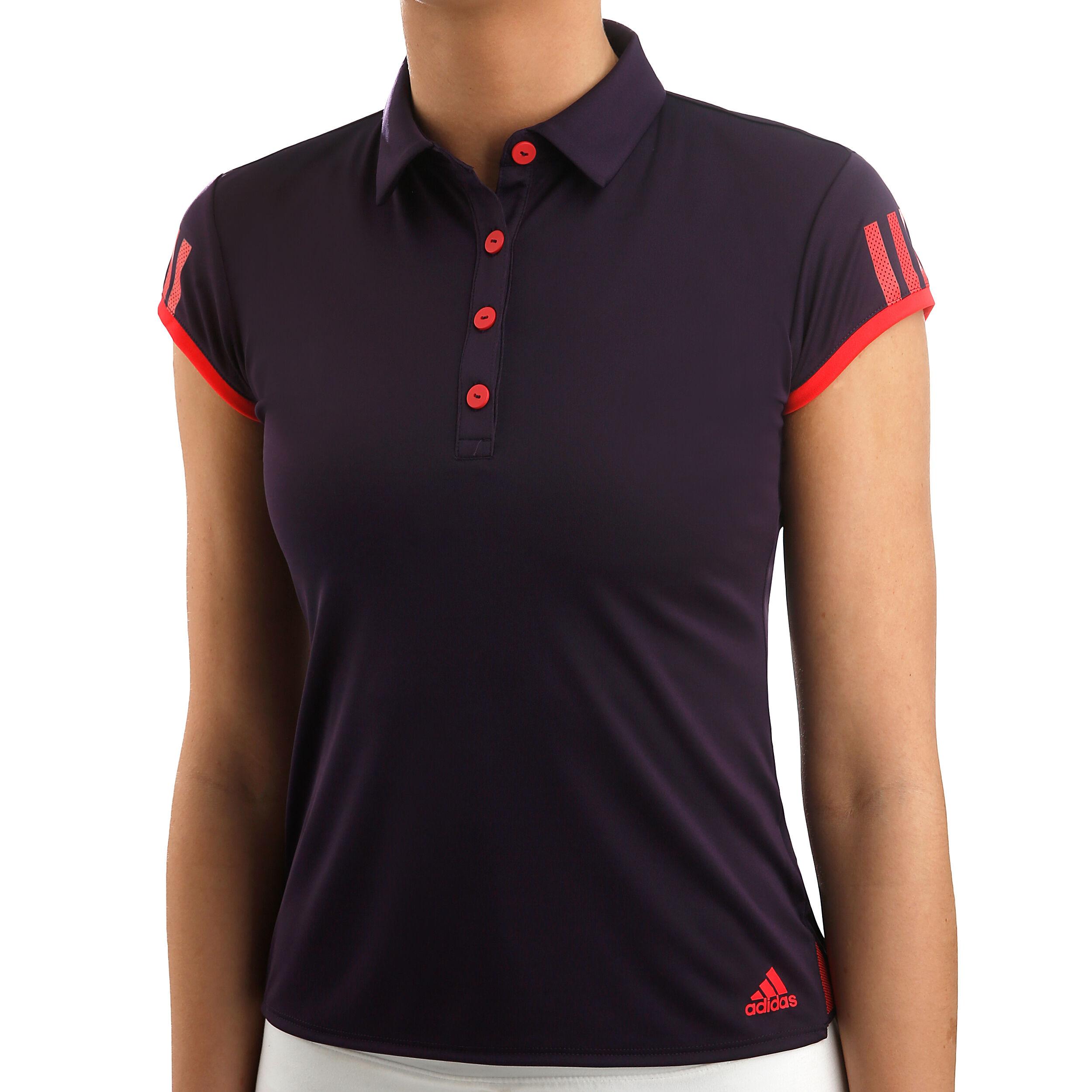 adidas Club 3 Stripes Polo Dames Paars, Oranje online