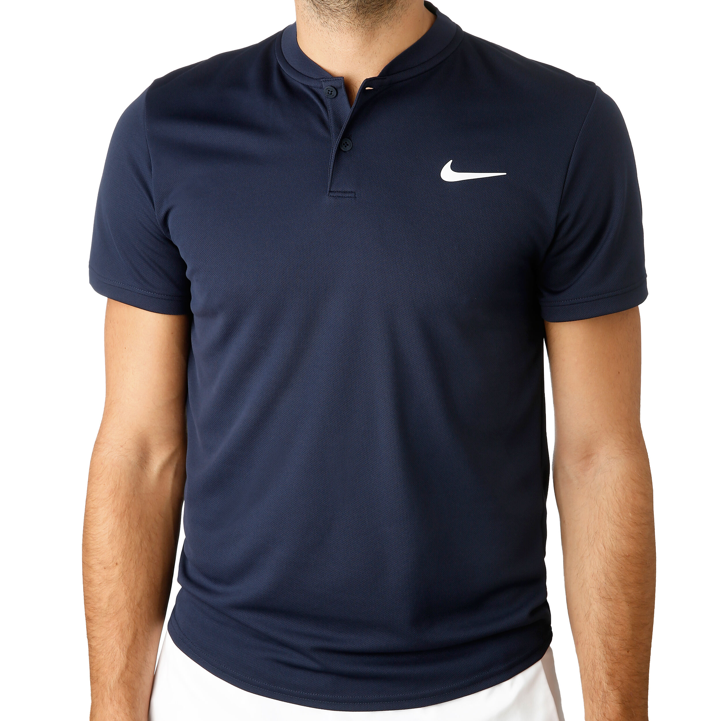 Court Dry Polo Heren Donkerblauw, Wit