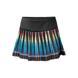 Multi Plaid Pleated Rock