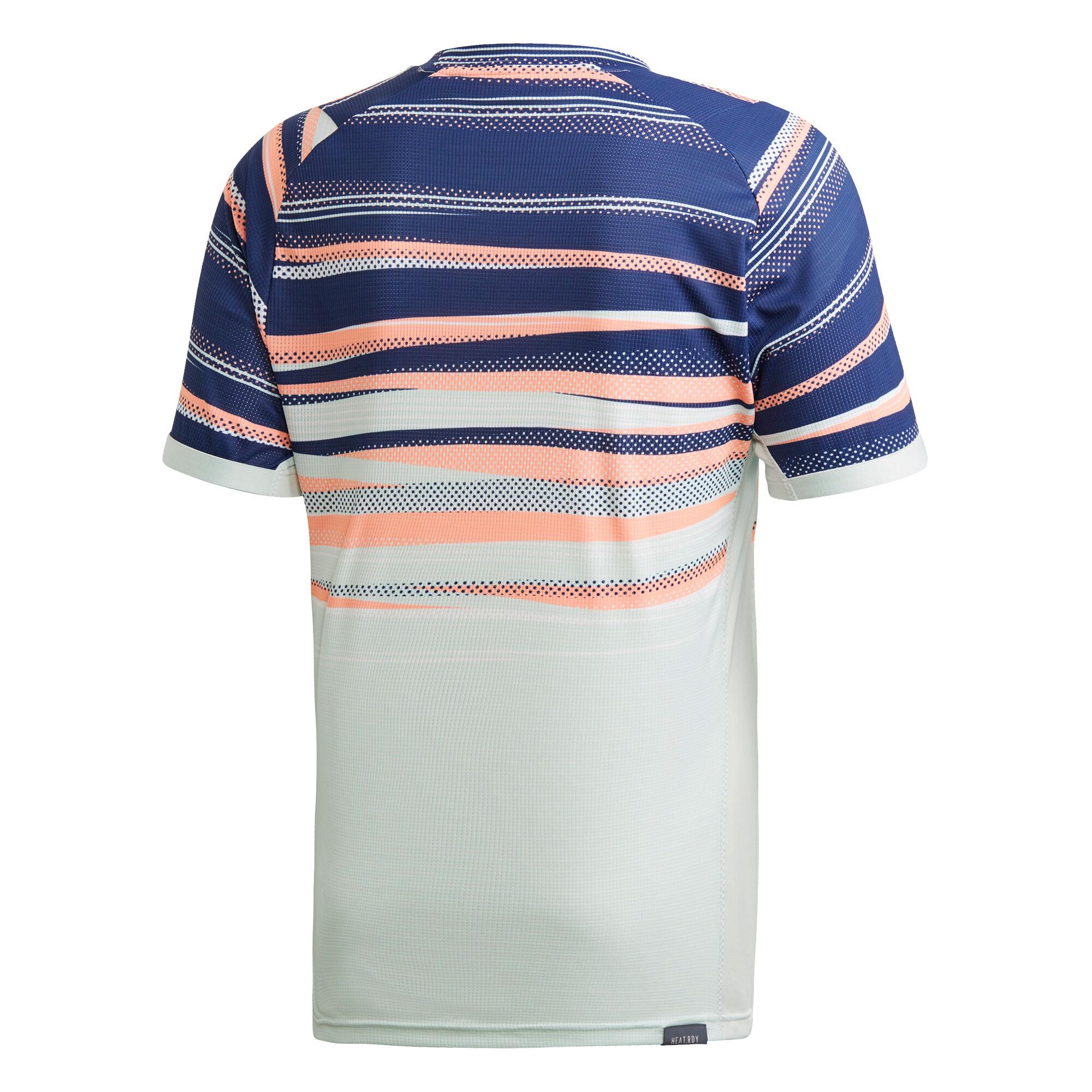 adidas Australian Open Zverev T shirt Heren Mint, Donkerblauw