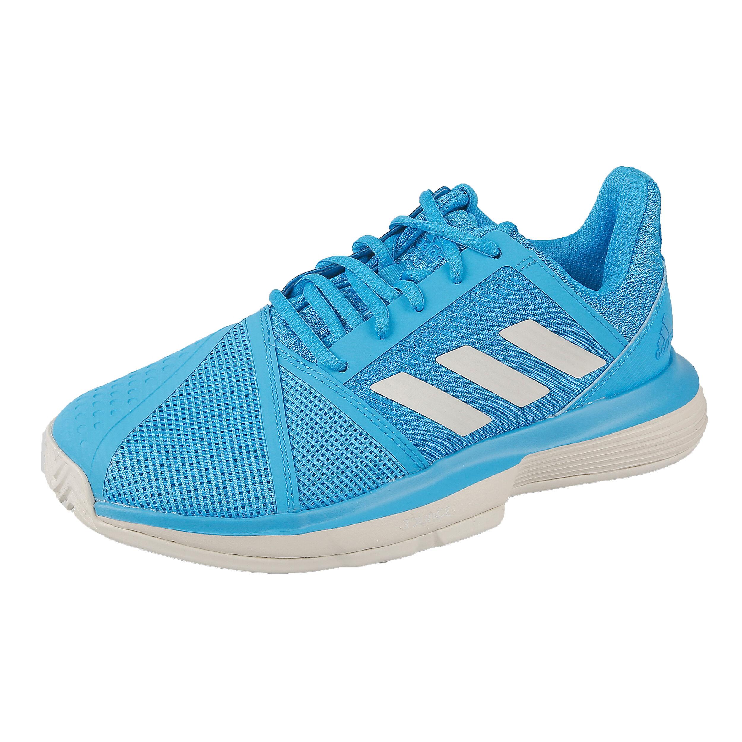 adidas Court Jam Bounce Clay Gravelschoen Dames - Lichtblauw, Wit